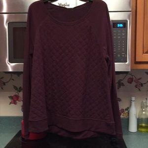 Heather Burgundy super soft fleece top